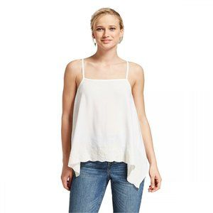 NEW Xhilaration Strappy Swing Tank XS White